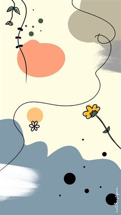 Walpaper Aesthetic Pastel | Seni Abstrak, Abstrak, Ilustrasi