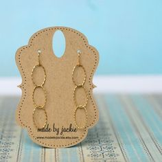 Beautiful Earring Display Card