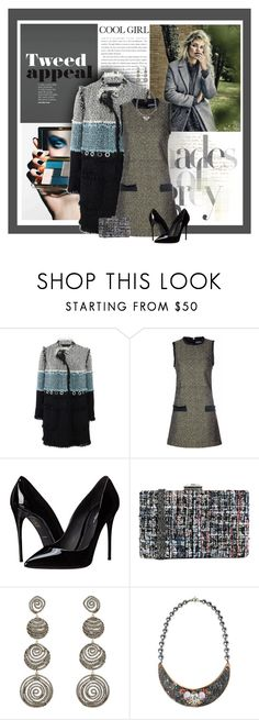 """""""Tweed Appeal"""" by sherry7411 ❤ liked on Polyvore featuring Lanvin, Glamorous, Dolce&Gabbana, JNB, Carole Shashona, Bijoux de Famille, classicstyle and trendytweed"""