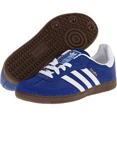 official photos 38e17 b35de Adidas originals kids samba leather little kid pride ink bluebird running  white