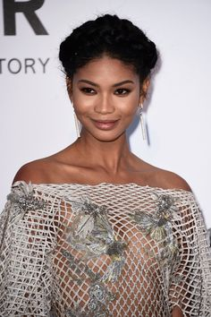 Pin for Later: Chanel Iman's Incredible Net Gown Needs to Be Seen From Every Angle