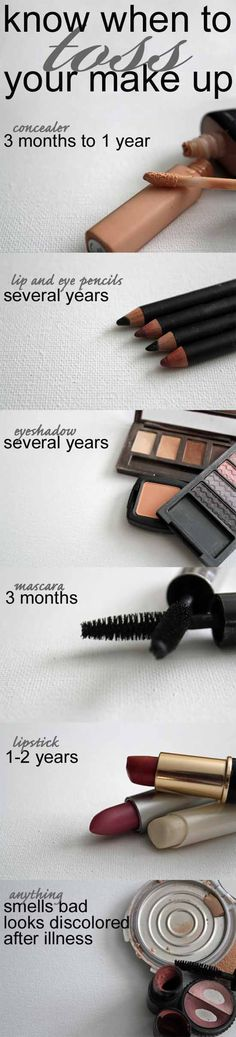 Know when to toss your make up