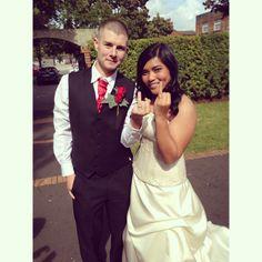 Best wedding portrait  Interracial wedding  British Filipina  Long distance relationship