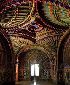 The Peacock Room, Castello di Sammezzano in Reggello, Tuscany, Italy