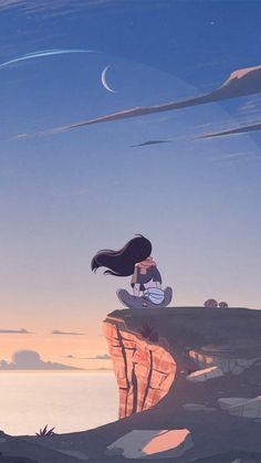 Cute Cartoon Wallpapers, Animes Wallpapers, Vintage Wallpapers, Iphone Wallpapers, Aesthetic Art, Aesthetic Anime, Wie Zeichnet Man Manga, Japon Illustration, Digital Illustration