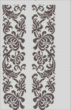Beading _ Pattern - Motif / Earrings / Band ___ Square Sttich or Bead Loomwork ___ Cross Stitch Borders, Cross Stitch Flowers, Cross Stitch Charts, Cross Stitch Designs, Cross Stitching, Cross Stitch Embroidery, Embroidery Patterns, Cross Stitch Patterns, Crochet Patterns