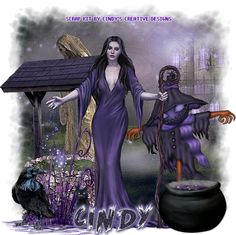 "Cindy's Creative Designs: New Tag With My Kit Out ""Witches In Purple Mist"""