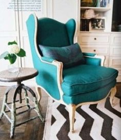 Pretty sure the black and white zigzags with the turquoise furniture is the next pop of color im gonna be doing!