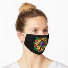 'Flower of Life Mandala' Mask by Paul Corps Diy Mask, Diy Face Mask, Face Masks, Bingo, Scientific Tattoo, Whimsical Owl, Retro Girls, Flower Of Life