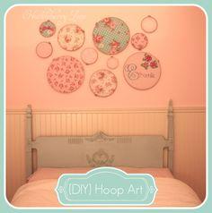 from Gardners 2 Bergers: Contributor: Huckleberry Love's DIY Hoop Art