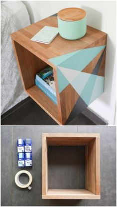 30 Amazingly Creative And Easy DIY Nightstand Projects – Lots of repurposing projects here! 30 Amazingly Creative And Easy DIY Nightstand Projects – Lots of repurposing projects here! Diy Furniture Table, Repurposed Furniture, Furniture Makeover, Dresser Repurposed, Repurposed Items, Bedroom Furniture, Furniture Plans, Rustic Furniture, Steel Furniture