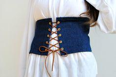 DIY Lace Up Corset Belt