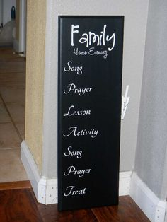 Make a board for Family Worship night!! I'd set it up a bit differently but still a neat idea.