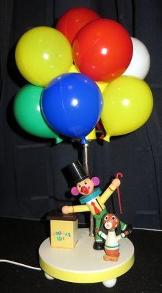 Vintage Circus Clown ballon Lamp