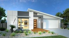 Bridgewater home design listed by G. Gardner Homes Geelong. View the display home locations, choose your floor plan size and house facade for your dream home. Small House Design, Modern House Design, Home Design, Facade House, House Roof, Modern House Facades, Modern Houses, Bungalow Haus Design, Small Modern Home