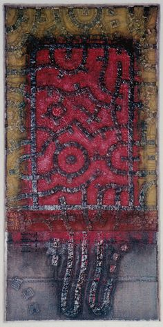 D-27.Oct.1996 paper making, painting, collage (knitted the paper, tied the paper strings) 林孝彦 HAYASHI Takahiko 1996