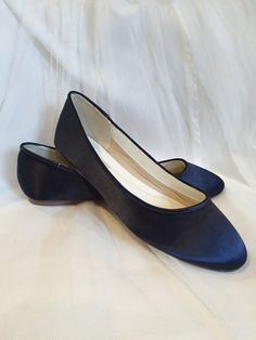 Navy Blue Flat Shoes Shoes Wedding Shoes Navy by Parisxox