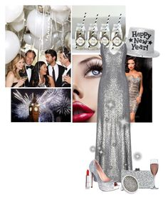 """New Years Eve"" by texaspinkfox ❤ liked on Polyvore featuring Scala, Fame & Partners, Lauren Lorraine, Edie Parker, Sonal Bhaskaran and Maybelline"