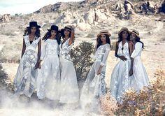 American Vogue_Peter Lindbergh and Grace Coddington_ White lace dresses