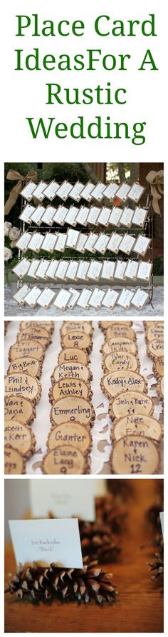 Rustic Wedding Place Card Ideas