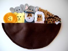 Noah's Ark Finger Puppet Set Bible Story, $25.00