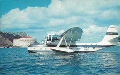 "Postcard of a Sikorsky VS-44, ""Flying Boat"", Avalon, Catalina Island, California."