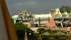 The People Mover, one of Disney's original rides, is a leisurely way to see the Tomorrowland area of the park.