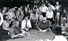 Photo was taken by UNLV Gaming Research Center. 1976 C. I chose this photograph mainly because I just wanted to choose something that was poker related. This was the year the Doyle Brunson won the WSOP with the famous hand. Doyle Brunson, Poker Quotes, Sleep With The Fishes, Las Vegas, World Series Of Poker, Poker Night, History Images, Poker Games, History Of Photography