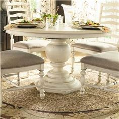 Home Round Pedestal Table by Universal at Baer's Furniture