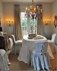 Romantic Rustic Lighting in this French Country Dining Room  - by COTE DE TEXAS
