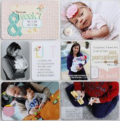 Sweet Project Life Layout sharing baby girl photos and using a Citrus Twist Kit Project Life Baby, Life Sketch, Project Life Layouts, Travel Album, Baby Girl Photos, Happy Spring, New Crafts, Life Inspiration, Digital Scrapbooking