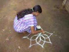 rangoli non timelapse Rangoli Patterns, Rangoli Kolam Designs, Rangoli Designs With Dots, Kolam Rangoli, Beautiful Rangoli Designs, Teaching Patterns, Around The World Theme, 4th Grade Art, India Art