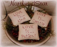 Primitive Valentine Pinkeep Redwork Stitchery by northwindstar, $7.50