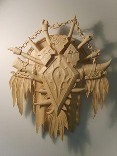 World of Warcraft Warcraft Orc, World Of Warcraft, Bone Weapons, Voodoo Halloween, Wow World, For The Horde, Nerd Cave, Fanart, Wood Carving Designs