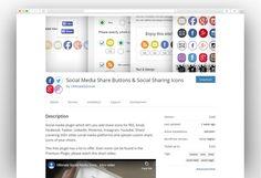 Most Popular Social Media WordPress Plugins 2020 - New Template Most Popular Social Media, Share Button, Wordpress Plugins, Icons, Buttons, Templates, Blog, Stencils, Symbols
