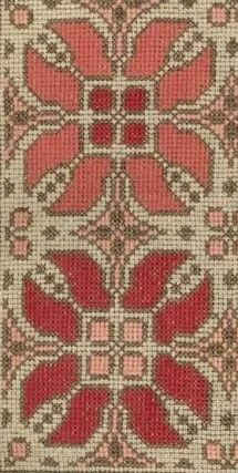 Cross Stitch Charts, Cross Stitch Embroidery, Hand Embroidery Design Patterns, Fair Isles, Pattern Design, Ornament, Fabrics, Flowers, Craftsman Decor