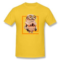 ZHUYOUDAO Star Wars Minions Custom Short Sleeve T Shirt For Big Boys Yellow XXLarge >>> You can find more details by visiting the image link.