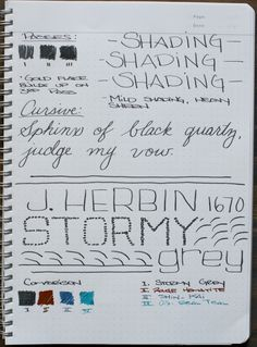 J Herbin 1670 Stormy Grey Fountain Pen Ink Review by ed jelley