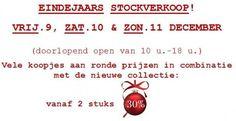 Eindejaars Stockverkoop Outlet Cottage -- De Haan -- 09/12-11/12