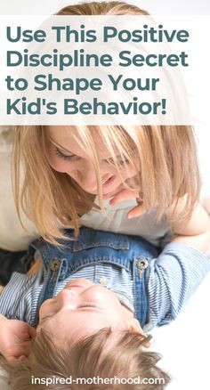 Want to stop yelling at your toddler or kids to get them to listen? Use this positive discipline tool to shape their behavior. A great tool for parents! Practical Parenting, Gentle Parenting, Parenting Teens, Parenting Hacks, Toddler Discipline, Positive Discipline, Raising Godly Children, Raising Kids, Love And Logic