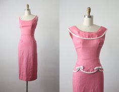 très jolie dress / 60s dress / 1960s dress / wiggle by 1919vintage