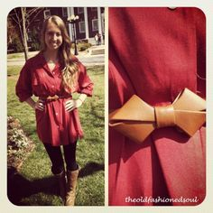 Cute bow belt and outfit