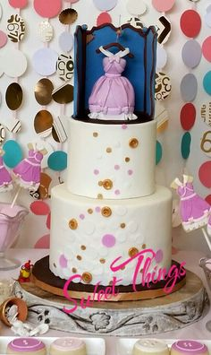 Cinderella cake, with custom cake topper of the classic Cinderella movie.  Sweet Things by Wendy  sweetthingsbywendy.ca Custom Cake Toppers, Custom Cakes, Cinderella Movie, Classic, Sweet, Desserts, Food, Personalized Cakes, Derby