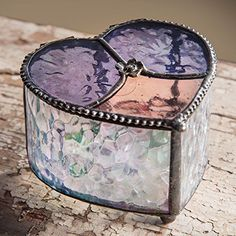 J Devlin Box 5205 Stained Glass Heart Jewelry Keepsake Box Purple Pink Rose >>> Continue to the product at the image link. Jewelry Boxes For Sale, Kids Jewelry Box, Large Jewelry Box, Glass Jewelry Box, Musical Jewelry Box, White Jewelry Box, Wooden Jewelry Boxes, Earring Jewelry Box, Heart Jewelry