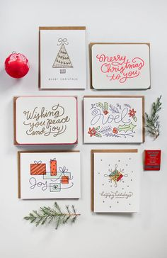 Moglea's 2013 letterpress holiday card collection