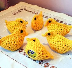 easter egg cosies - These cute Easter egg cosies were hand-crocheted by Cookie Crochet and they're perfect for hiding your chocolate or regular eggs. Crochet Cross, Love Crochet, Crochet Gifts, Hand Crochet, Easter Crochet Patterns, Knitting Patterns, Crochet Chicken, Egg Holder, Yarn Crafts
