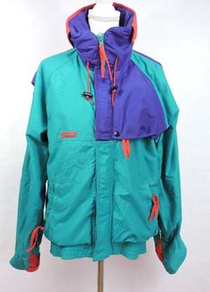35e69c4ebdcc2 Columbia Radial Sleeve Criterion Vintage Men Color Block TM Ski Jacket Size  M