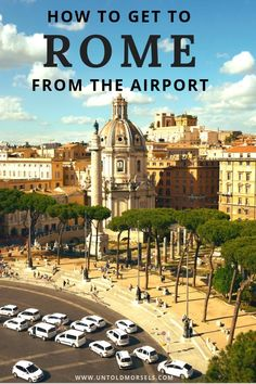 Guide to Rome airport transfers - find the best way to get from Rome airport to the city center. Italy Travel Tips, Rome Travel, Travel Europe, Travel Guide, Rome Airport, Italy Destinations, Rome City, Things To Do In Italy, Travel Inspiration