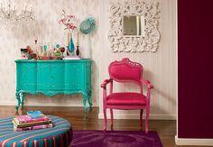 azul + rosa + roxo