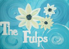 I LOVE this! Sometimes when I paint, I'm very critical! But I LOVE the swirl background and the white and yellow flowers on this painting! You can get a custom made canvas like this on my Etsy!
